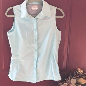 Columbia Sun Shirt button up tank top